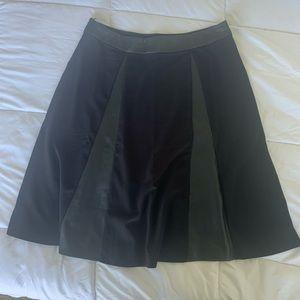 Vegan leather paneled A line skirt size 10